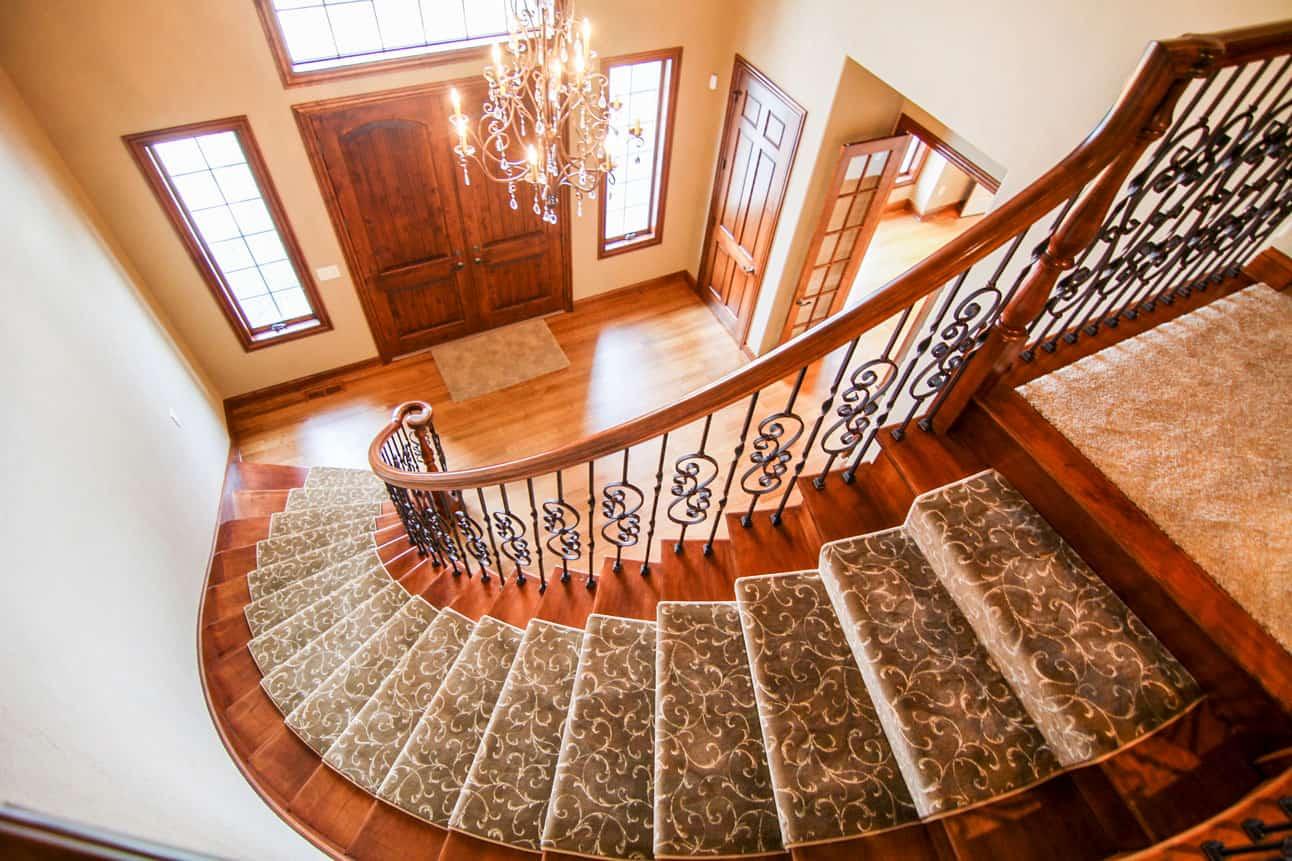 Elegant Custom Home Spiral Staircase